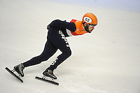 SHORT TRACK: TORINO: 14-01-2017, Palavela, ISU European Short Track Speed Skating Championships, Semifinals Relay Men, Sjinkie Knegt (NED), ©photo Martin de Jong