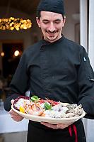 Chef Francesco Daniele at Trattoria Il Brigante, Monopoli, Puglia, Italy