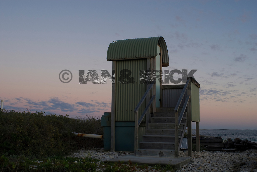 Toilet in fron of main jetty on Beacon Island in the Abrohlos