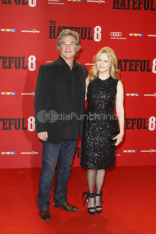 Kurt Russell Jennifer Jason Leigh attending the The Hateful 8 premiere held at Zoo Palast, Berlin, Germany, 26.01.2016. <br /> Photo by Christopher Tamcke/insight media /MediaPunch ***FOR USA ONLY***