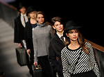 A model presents a creation by Yerse during the 080 Barcelona Autumn-Winter 2014-2015 fashion week in Barcelona on January 30, 2014. PHOTOCALL3000 / PD