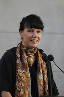 Nathalie Bondil<br />  attend the Official  annoncement of a new partnerrship to showcase over 1000 public art in Montreal<br /> l, October 8, 2015.<br /> <br /> PHOTO : Pierre Roussel - Agence Quebec Presse