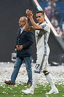 Real Madrid Lucas Vazquez during the celebration of the 12th UEFA Championship won by Real Madrid  at Santiago Bernabeu Stadium in Madrid, June 04, 2017. Spain.<br /> Foto ALTERPHOTOS/BorjaB.Hojas/Insidefoto