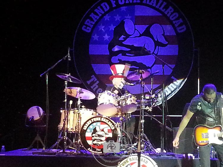 Grand Funk Railroad performing live at Orleans Casino April 20, 2013. Don Brewer,<br /> Max Carl