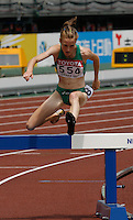 Fionnuala Britton of Ireland ran 9:42.38sec in her heat of the 3000m steeplechase at the 11th. IAAF World Championships on Saturday, August 25, 2007. Photo by Errol Anderson, The Sporting Image.