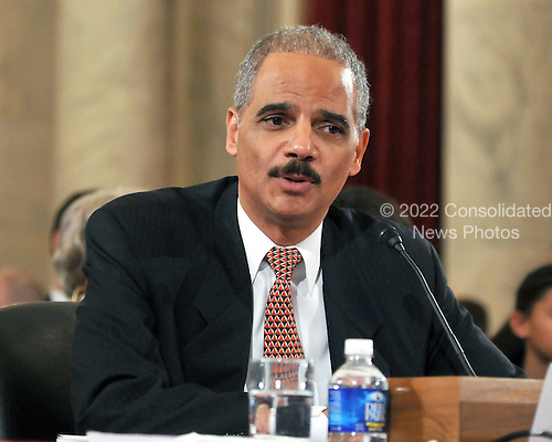 Washington, DC - January 15, 2009 -- Eric Holder testifies before the United States Senate Judiciary Committee confirmation hearing on his nomination as Attorney General in Washington, D.C. on Thursday, January 15, 2009..Credit: Ron Sachs / CNP.