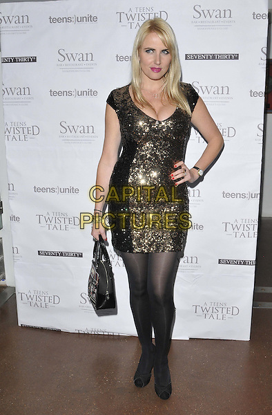 LONDON, ENGLAND - NOVEMBER 22: Nancy Sorrell attends the Teens Unite: A Twisted Tale charity dinner, Under Globe, New Globe Walk, on Saturday November 22, 2014 in London, England, UK. <br /> CAP/CAN<br /> &copy;Can Nguyen/Capital Pictures
