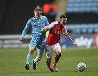 Fleetwood Town's Jason Holt in action with Coventry City's Luke Thomas <br /> <br /> Photographer Mick Walker/CameraSport<br /> <br /> The EFL Sky Bet League One - Coventry City v Fleetwood Town - Tuesday 12th March 2019 - Ricoh Arena - Coventry<br /> <br /> World Copyright © 2019 CameraSport. All rights reserved. 43 Linden Ave. Countesthorpe. Leicester. England. LE8 5PG - Tel: +44 (0) 116 277 4147 - admin@camerasport.com - www.camerasport.com