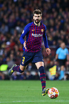 UEFA Champions League 2018/2019.<br /> Round of 16 2nd leg.<br /> FC Barcelona vs Olympique Lyonnais: 5-1.<br /> Gerard Pique.