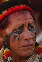 Kuikuro.<br /> <br /> Os Jogos dos Povos Indígenas (JPI) chegam a sua décima edição. Neste ano 2009, que acontecem entre os dias 31 de outubro e 07 de novembro. A data escolhida obedece ao calendário lunar indígena. com participação  cerca de 1300 indígenas, de aproximadamente 35 etnias, vindas de todas as regiões brasileiras. <br /> Paragominas , Pará, Brasil.<br /> Foto Paulo Santos<br /> 04/11/2009