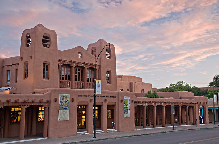 Exterior view of the Institute of American Indian Arts Museum in Santa Fe, New Mexico