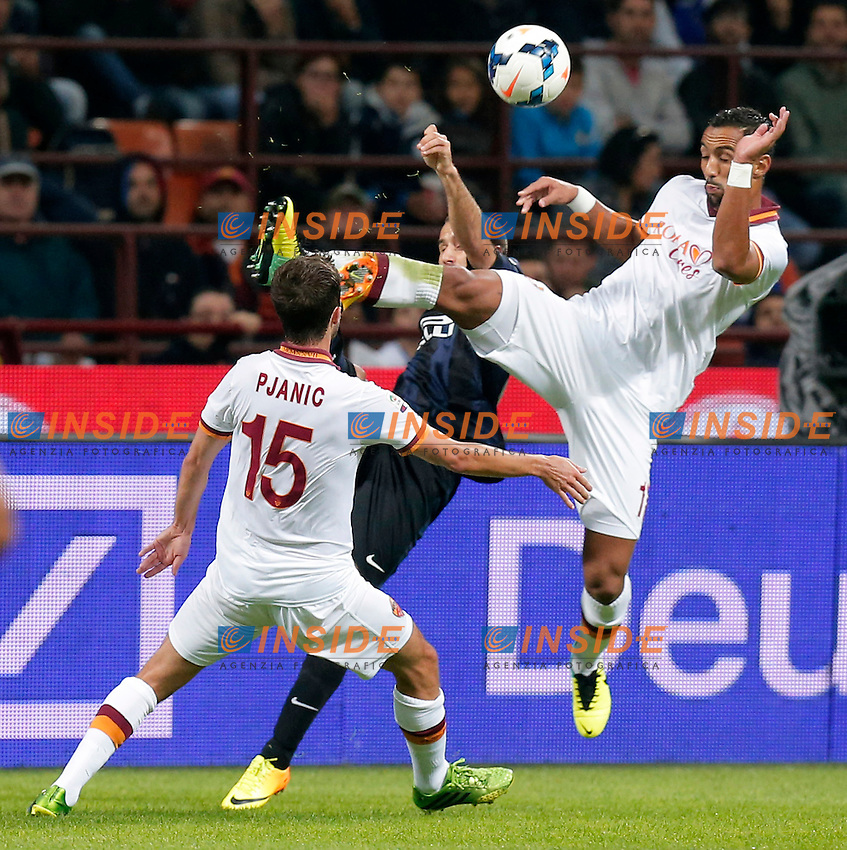 Benatia Roma,<br /> Milano 05-10-2013<br /> Stadio Giuseppe Meazza <br /> Football Calcio 2013/2014 Serie A <br /> Inter - Roma<br /> Foto Marco Bertorello Insidefoto