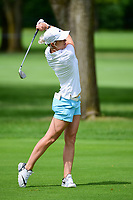 Mel Reid (ENG) watches her approach shot on 10 during Thursday's round 1 of the 2017 KPMG Women's PGA Championship, at Olympia Fields Country Club, Olympia Fields, Illinois. 6/29/2017.<br /> Picture: Golffile | Ken Murray<br /> <br /> <br /> All photo usage must carry mandatory copyright credit (&copy; Golffile | Ken Murray)
