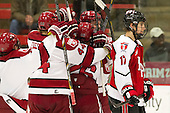 - The Harvard University Crimson defeated the visiting Rensselaer Polytechnic Institute Engineers 4-0 (EN) on Saturday, November 10, 2012, at Bright Hockey Center in Boston, Massachusetts.