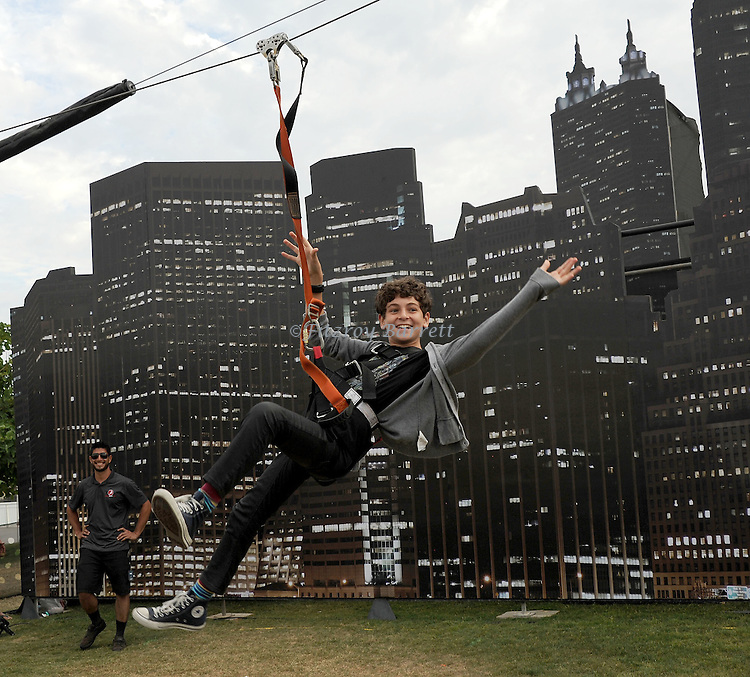 David Mazouz at the Gotham Zip Line at Comic-Con 2014 in San Diego, Ca. July 26, 2014.