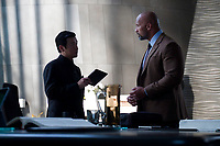 Skyscraper (2018) <br /> CHIN HAN, DWAYNE JOHNSON<br /> *Filmstill - Editorial Use Only*<br /> CAP/FB<br /> Image supplied by Capital Pictures