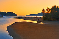 Beach at sunset, Port Renfrew. Vancouver Island, British Columbia, Canada