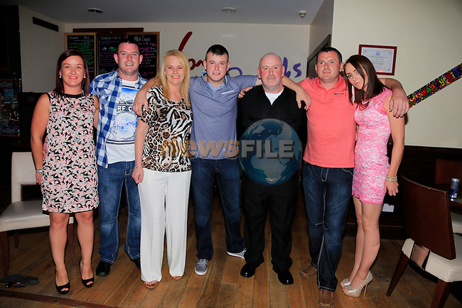 Rachel cudden Stephen Stapleton Bernie Stapleton Jamie 21th Eddie Chris and Lisa Roche.<br /> Picture: www.newsfile.ie
