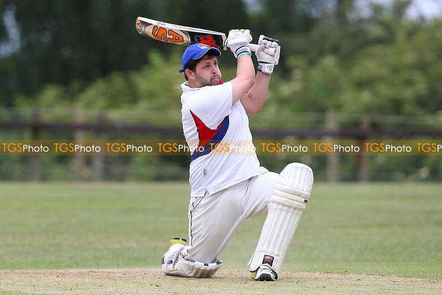 Ross Raftery in batting action for Hornchurch Athletic - Havering-Atte-Bower CC vs Hornchurch Athletic CC - Mid-Essex League Cricket - 14/06/14 - MANDATORY CREDIT: Gavin Ellis/TGSPHOTO - Self billing applies where appropriate - 0845 094 6026 - contact@tgsphoto.co.uk - NO UNPAID USE