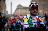 Italian champion Elia Viviani (ITA/Deceuninck-QuickStep) at the start<br /> <br /> Stage 2: Bologna to Fucecchio (200km)<br /> 102nd Giro d'Italia 2019<br /> <br /> ©kramon