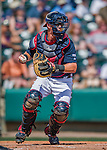 14 March 2016: Atlanta Braves catcher Blake Lalli, in action during a Spring Training pre-season game against the Tampa Bay Rays at Champion Stadium in the ESPN Wide World of Sports Complex in Kissimmee, Florida. The Braves shut out the Rays 5-0 in Grapefruit League play. Mandatory Credit: Ed Wolfstein Photo *** RAW (NEF) Image File Available ***