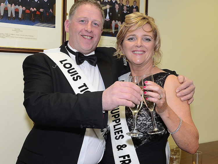Enda Dunne and Allison Gough pictured at the launch of Strictly Come Dancing in Ardee Golf Club. Photo:Colin Bell/pressphotos.ie