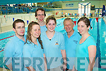 3047-3050.Dive in: Taking part in the Kingdom masters invitational Munster gala at Tralee sports complex last Saturday were Tralee swimming club members l-r: James, Claire and Brendan O'Connell, Paula Fitzgerald, Terry Higgins and Sandra O'Connell.