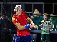 Rotterdam, The Netherlands, 9 Februari 2020, ABNAMRO World Tennis Tournament, Ahoy, Qualyfying round: Emil Ruusuvuori (FIN)<br /> Photo: www.tennisimages.com