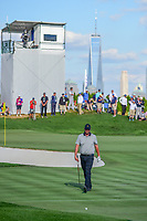 Marc Leishman (AUS) looks over his chip on 14 during round 2 Four-Ball of the 2017 President's Cup, Liberty National Golf Club, Jersey City, New Jersey, USA. 9/29/2017.<br /> Picture: Golffile | Ken Murray<br /> <br /> All photo usage must carry mandatory copyright credit (&copy; Golffile | Ken Murray)