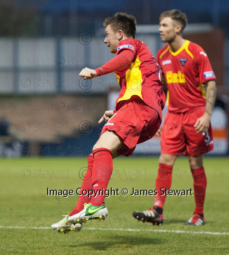 Pars' Joe Cardle scores Dunfermline's second ...