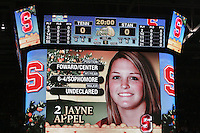 8 April 2008: Stanford Cardinal Jayne Appel during Stanford's 64-48 loss against the Tennessee Lady Volunteers in the 2008 NCAA Division I Women's Basketball Final Four championship game at the St. Pete Times Forum Arena in Tampa Bay, FL.