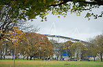 Hull City 3 Preston North End 0, 10/11/2007. KC Stadium, Championship. The KC Stadium pictured from a nearby park. Photo by Paul Thompson.