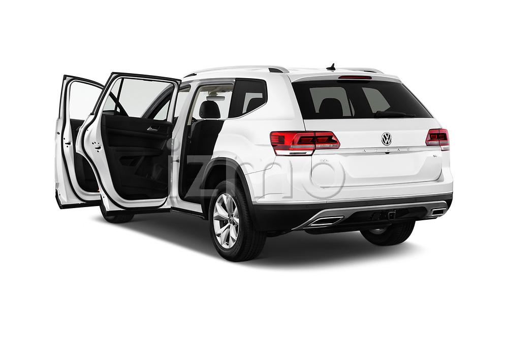 Car images close up view of 2018 Volkswagen Atlas SEL 5 Door SUV doors