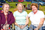SUNSHINE:Kathleen Mahony,Eileen Grady and Peg Kelly enjoying the sunshine at the 50th Anniversary of Ballincrossig NS Ballyduff Family Day on Sunday.