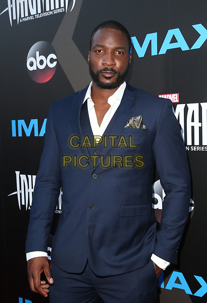 UNIVERSAL CITY, CA - August 28: Eme Ikwuakor, At Premiere Of ABC And Marvel's 'Inhumans' At Universal City Walk In California on August 28, 2017. <br /> CAP/MPI/FS<br /> &copy;FS/MPI/Capital Pictures