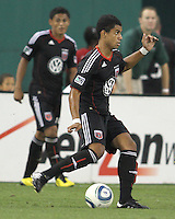 Junior Carreiro #30 of D.C. United starting in his first match during an MLS match against the Houston Dynamo at RFK Stadium in Washington D.C. on September  25 2010.Houston won 3-1.
