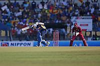 February 26th 2020, the Mahinda Rajapaksha International Stadium, Hambantota, Sri Lanka; One Day International cricket, Sri Lanka versus West Indies; Kusal Medis plays a shot to make a century not out