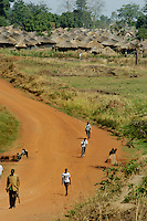 Home to 25,000 people the Awer camp for internally displaced persons lies 15 kilometers northwest of Gulu Town in Northern Uganda. More than 2 million live in IDP camps accross northern Uganda, forced out of their homes in the country side by the 18-year-old war with the Lord's Resistance Army. The LRA's leader Joseph Kony does not issue demands and continues attacking soft targets such as IDP camps and kidnapps people to become soldiers and porters. (Rick D'Elia)