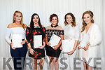 At the Kerry ETB  Graduations in the rose Hotel on Thursday were Hairdressing Students, l-r Caitlin Sheehy, Megan O'Brien, Elena Buckley, Grace Stack, Nicole McCarthy