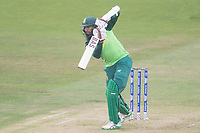 Hashim Amla  (South Africa) plays a glorious drive straight down the ground during South Africa vs West Indies, ICC World Cup Warm-Up Match Cricket at the Bristol County Ground on 26th May 2019
