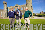 Toss Up - Kerry Golf Captain Michael Dowling with Ballyheigue Manager Patrick Bunyon and Ceann Sibe?al Manger Eddie Leahy, tosses a coin to see who tees off first in the Dr. Billy O'Sullivan Shield Final between Ceann Sibe?al & Ballyheigue Castle Golf Clubs in Ballyheigue on Saturday....................................................................................................................................................................................................................................................................... ............