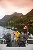 CANADA, Vancouver, British Columbia, portrait of first mate Frank Keitsch, Spotted Prawn fisherman, aboard the boat Organic Ocean