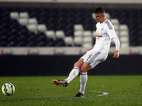 Pictured: Keston Davies of Swansea Monday 30 March 2015<br />
