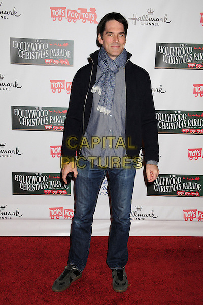 Thomas Gibson.2012 Hollywood Christmas Parade held on Hollywood Blvd., Hollywood, California, USA.  .November 25th, 2012.full length black grey gray scarf jeans denim black blue.CAP/ADM/BP.©Byron Purvis/AdMedia/Capital Pictures.