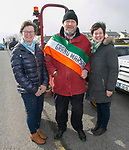 180318<br /> Grand Marshall  Mathhew Bermingham Jnr with his sisters Caroline and Pauline at the parade in Doonbeg.Pic Arthur Ellis.