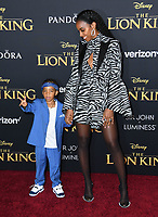 "09 July 2019 - Hollywood, California - Titan Weatherspoon, Kelly Rowland. Disney's ""The Lion King"" Los Angeles Premiere held at Dolby Theatre. Photo Credit: Birdie Thompson/AdMedia"