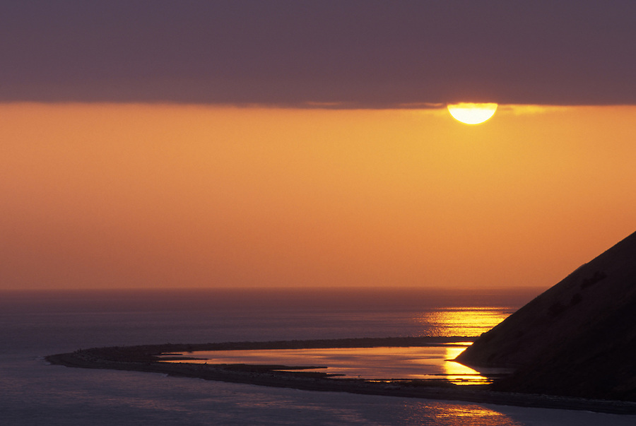 Sunset over Perego's Lake, Ebey's Landing National Historic Reserve, Coupeville, Whidbey Island, Washington