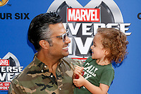 LOS ANGELES - JUL 8:  Jamie Camil, son at the Marvel Universe Live Red Carpet at the Staples Center on July 8, 2017 in Los Angeles, CA