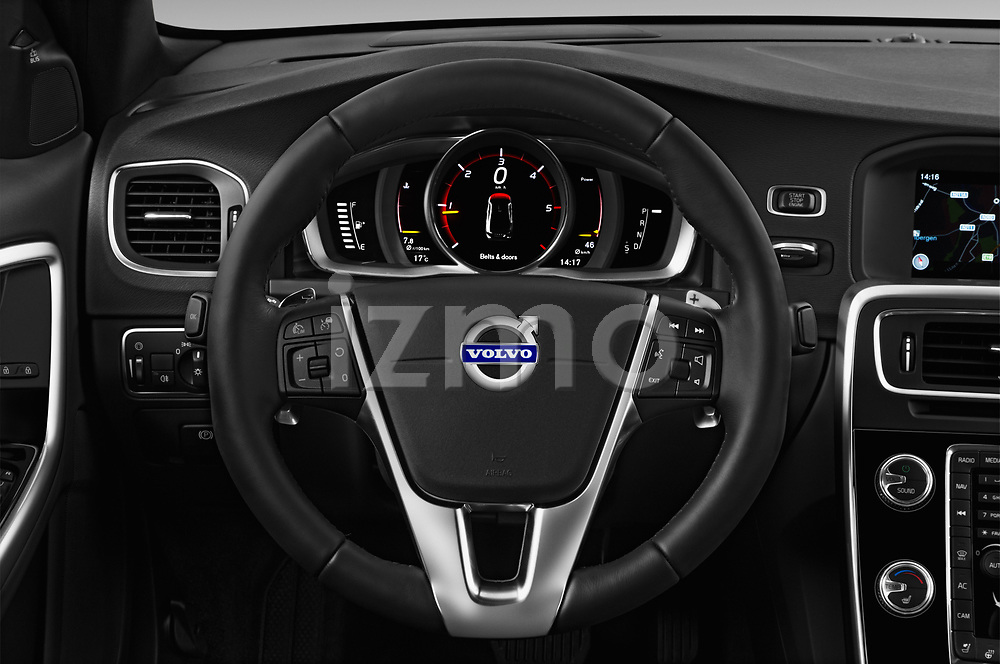 Car pictures of steering wheel view of a 2017 Volvo S60 T5 Platinum 4 Door Sedan