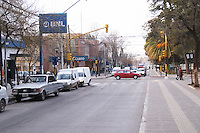 View of the main street. cars and traffic. Neuquen, Patagonia, Argentina, South America